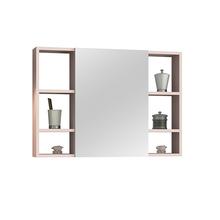 Espelheira para Banheiro Santorini 80  57x60x13,5cm Rosa Milk AstralDesign