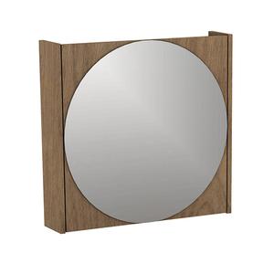 Espelheira para Banheiro Sevilha  46x48x10cm Ebano Darabas Agardi
