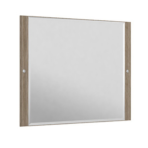 Espelheira Para Banheiro Sollo MDF Mezzo/Branco S/Luminária 99X65X3Cm Contemporânea Darabas