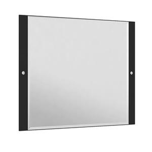 Espelheira Para Banheiro Sollo MDF Preto/Branco S/Luminária 79X65X3Cm Contemporânea Darabas
