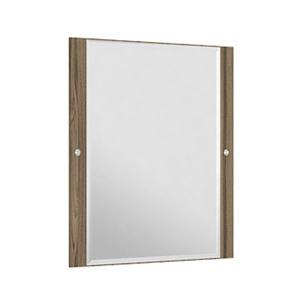 Espelheira Para Banheiro Sollo MDF Terracota/Branco S/Luminária 59X65X3Cm Contemporânea Darabas