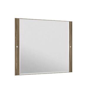 Espelheira Para Banheiro Sollo MDF Terracota/Branco S/Luminária 99X65X3Cm Contemporânea Darabas