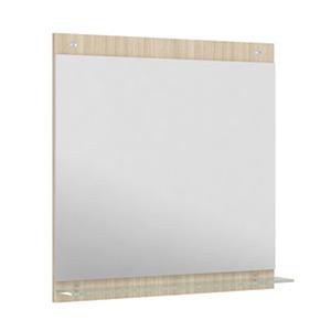 Espelheira Para Banheiro Verona MDF Ibiza/Branco S/Luminária 61X62,5X3Cm Contemporânea Darabas