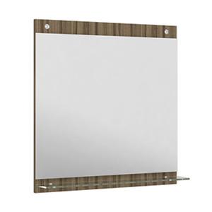 Espelheira Para Banheiro Verona MDF Terracota/Branco S/Luminária 61X62,5X3Cm Contemporânea Darabas