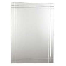 Espelheira Vidro Cristal Prata 70x50cm Kanon