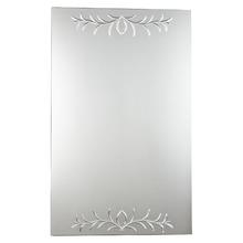 Espelheira Vidro Cristal Prata 85x53cm Kanon