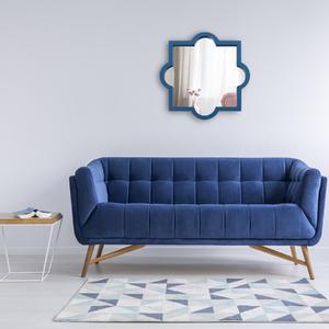 Espelho Artdeco Grande Azul 50x50cm