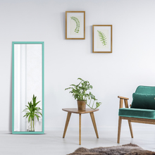 Espelho Azul Turquesa 43x114cm