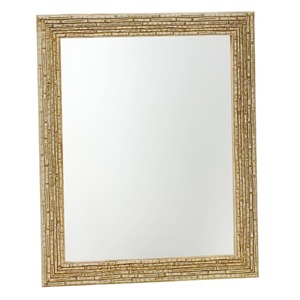 Espelho c/Moldura 40x50cm Marfim Euroquadros
