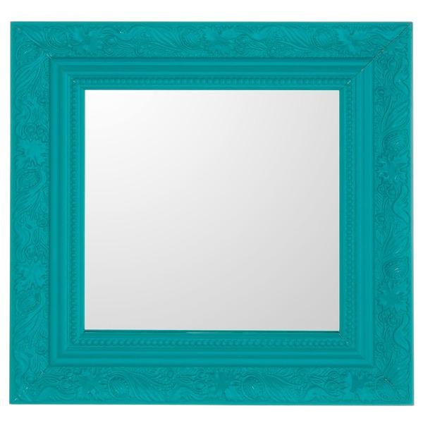 Espelho quadrado proven al com moldura azul 25x25cm - Leroy merlin molduras pared ...