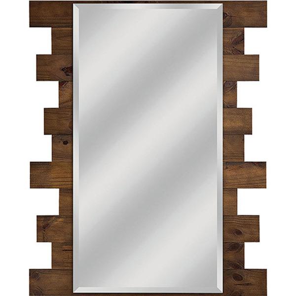 Espelho retangular ferrara com moldura marrom 63x70cm - Molduras de poliestireno leroy merlin ...