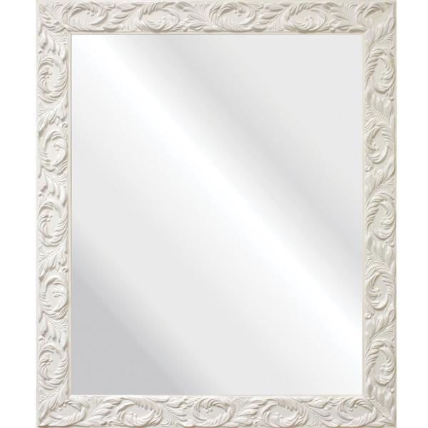 Espelho retangular cl ssico laqueado com moldura branca - Leroy merlin molduras pared ...