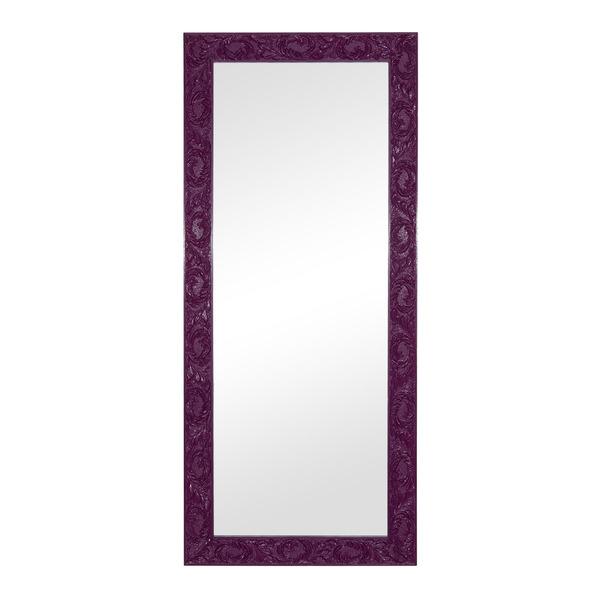 Espelho retangular cl ssico laqueado com moldura roxa - Molduras leroy merlin ...