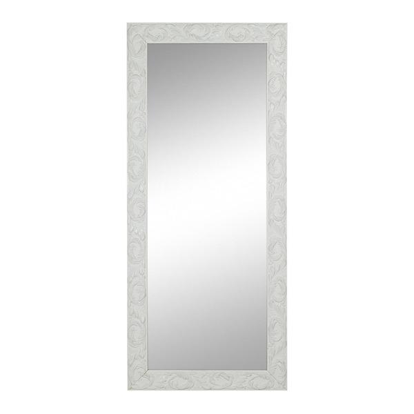Espelho retangular cl ssico laqueado com moldura branca - Molduras leroy merlin ...
