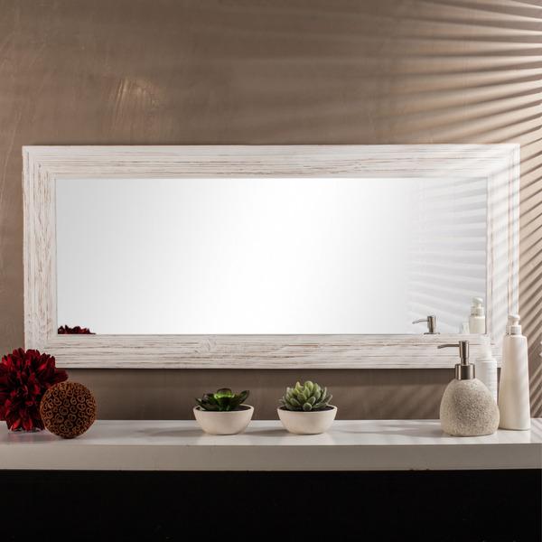Espelho retangular r stico com moldura branca 40x90cm - Leroy merlin molduras pared ...