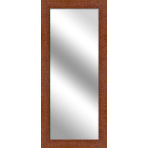 Espelho retangular pinus com moldura marrom 36x81cm - Molduras leroy merlin ...