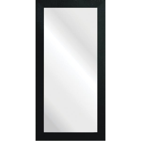 Espelho retangular craquel com moldura preta 40x90cm - Molduras para cuadros leroy merlin ...