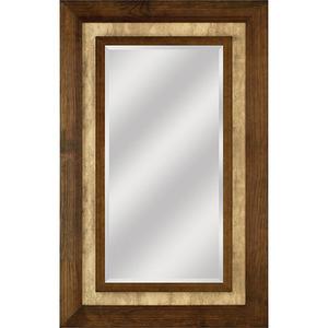 Espelho com Moldura Retangular Veneza Marrom 98x78cm