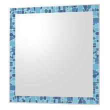 Espelho de Banheiro Retangular 54,7x64cm Mosaico Azul Cris Metal