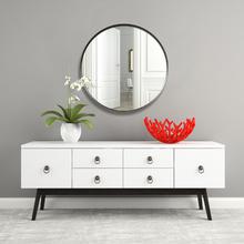 Espelho Decorativo Adnet Corten Redondo Marrom 50cm
