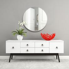 Espelho Decorativo Adnet Texturizado Redondo Branco 50cm