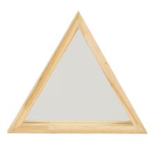 Espelho Decorativo Folk Triângulo Natural 25cm