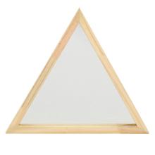 Espelho Decorativo Folk Triângulo Natural 35cm