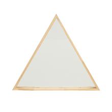 Espelho Decorativo Folk Triângulo Natural 60cm