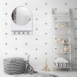 Espelho Hall Redondo Branco 68x50cm