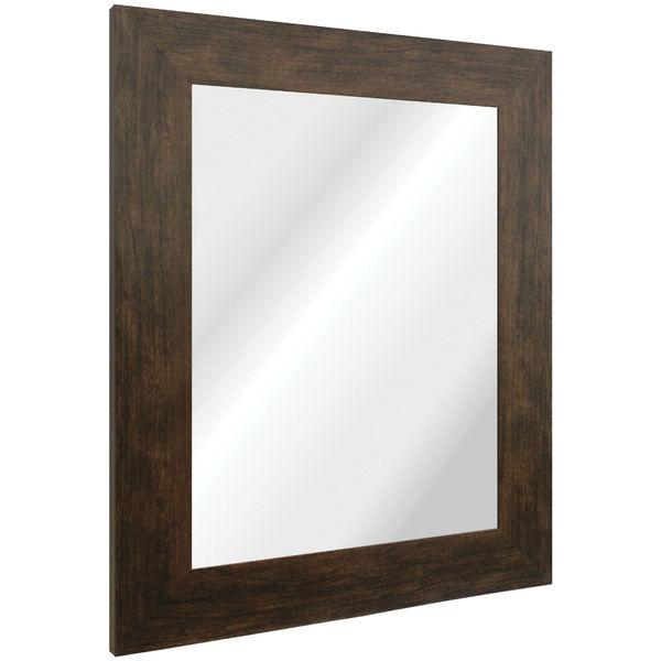 Espelho retangular cl ssico com moldura marrom 40x50cm - Molduras decorativas leroy merlin ...
