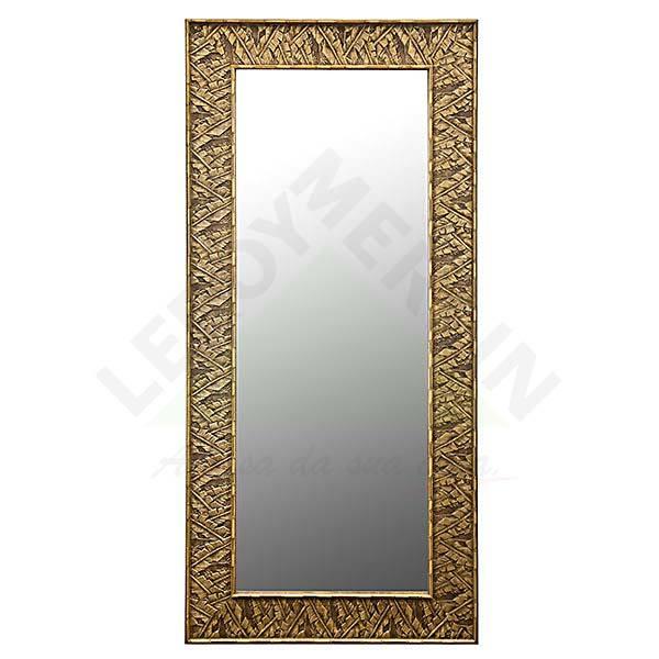 Espelho retangular palmas com moldura bege 70x150cm - Molduras leroy merlin ...