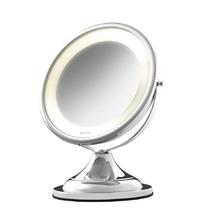 Espelho para Bancada com lente de aumento Classique Lux 34x28x20,5cm com Iluminação