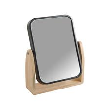 Espelho para Bancada Preto Plástico e Madeira Scandi Sensea