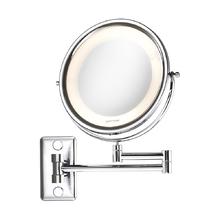 Espelho para Parede com lente de aumento Mobile Lux 33x26,5x42 com Iluminação