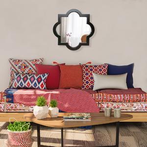 Espelho Quadrado Marrocos Grande Preto 50x50cm
