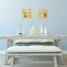 Espelho Quadrado Provençal com Moldura Amarela 25x25cm