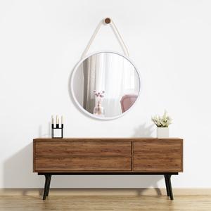 Espelho Redondo Ballon Branco 45cm