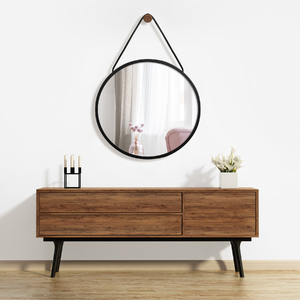 Espelho Redondo Ballon Industrial Preto 45cm