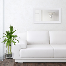 Espelho Retangular Basic com Moldura Branca 65x115cm