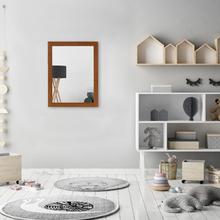 Espelho Retangular Basic com Moldura Marrom 34x44,5cm