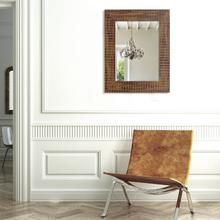 Espelho Retangular Caribbean com Moldura Marrom 40x50cm