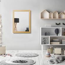 Espelho Retangular Decapê com Moldura Bege 34x44,5cm