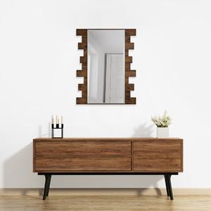Espelho Retangular Ferrara com Moldura Marrom 63x70cm