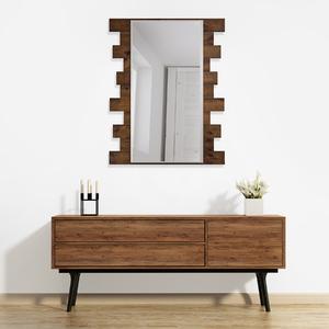 Espelho Retangular Ferrara com Moldura Marrom 80x103cm