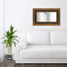 Espelho Retangular Veneza com Moldura Marrom 78x98cm