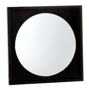 Espelho Rondó Quadrado 50x50cm Preto Kapos