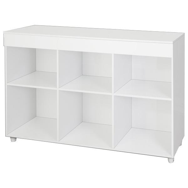 Estante decorativa madeira branco 120x69x32cm multiuso for Mobiletti multiuso leroy merlin