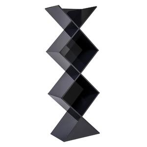 Estante Decorativa Madeira Preta 178x61,8x40cm New York Spaceo