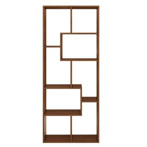Estante Decorativa MDF 6 Prateleiras Puzzle Nogal 1,69x70x30cm Spaceo