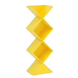 Estante Decorativa Triangular Amarelo Durban 178x61,8x40cm
